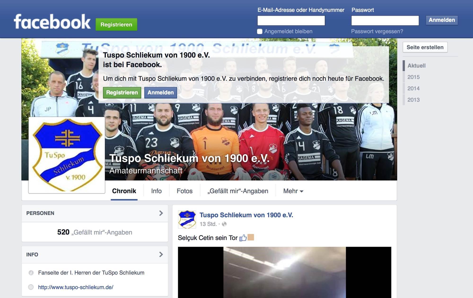 Mannschaftsfoto TuSpo Schliekum 3