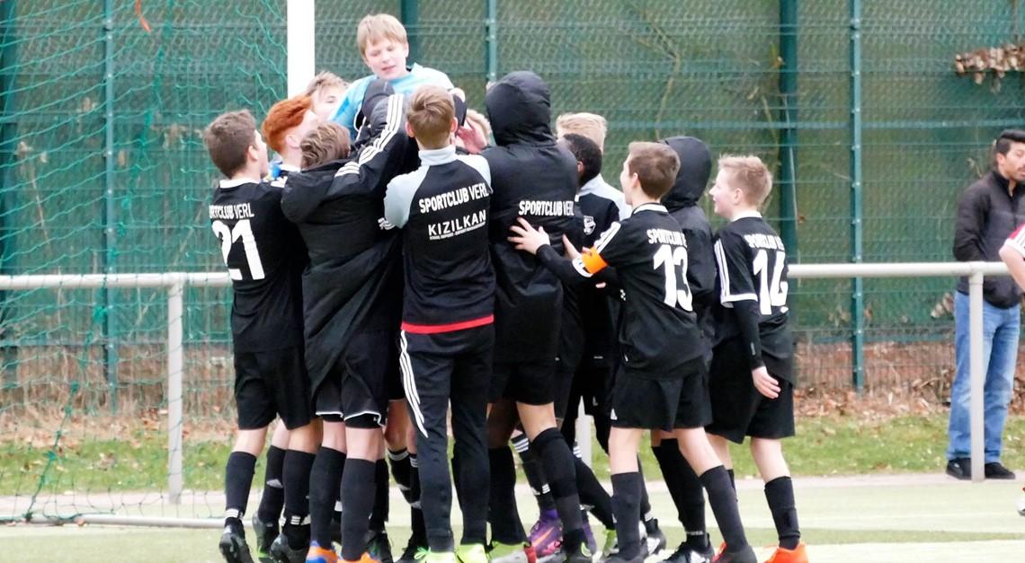 U15 zieht ins Achtelfinale des Westfalenpokals ein