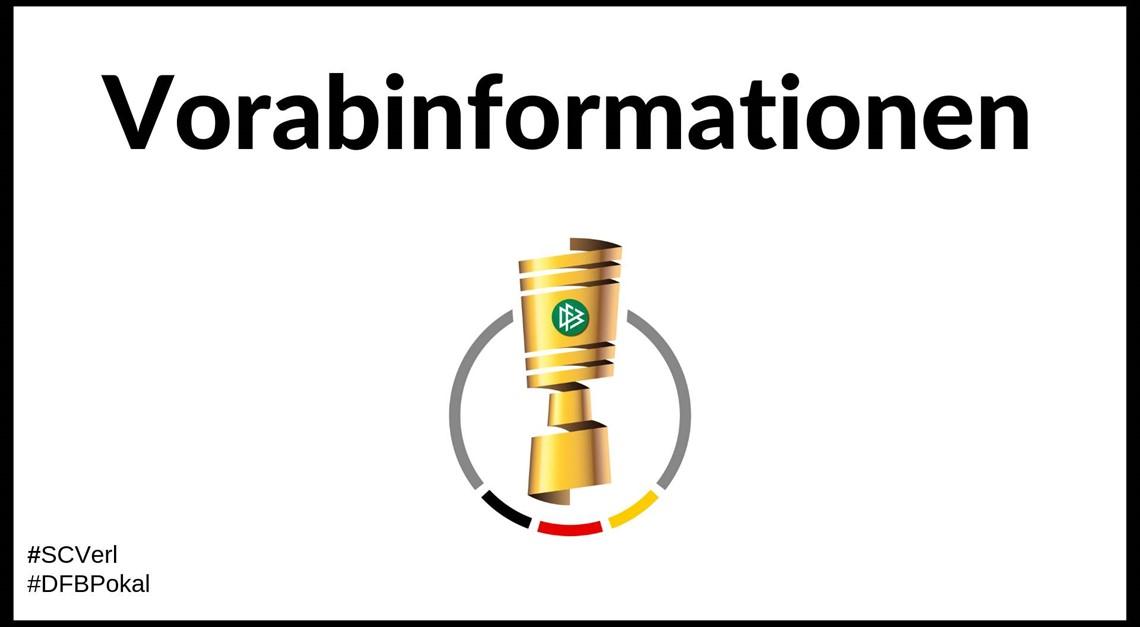 Vorabinformation zur 2. Runde im DFB Pokal