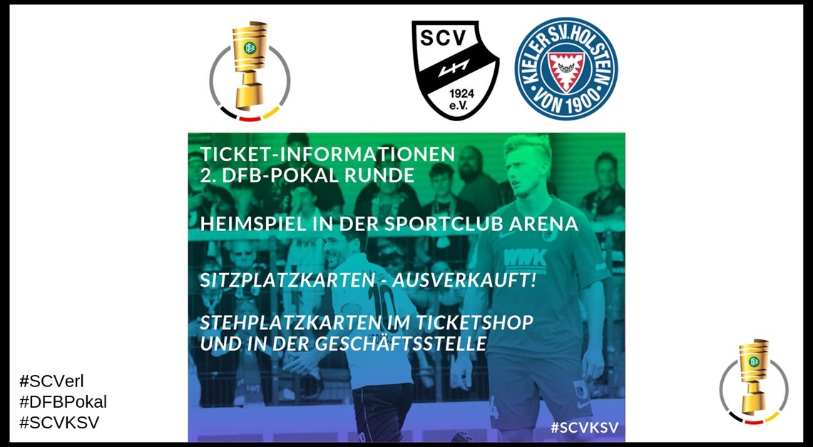 Ticket-Informationen 2. Runde DFB Pokal