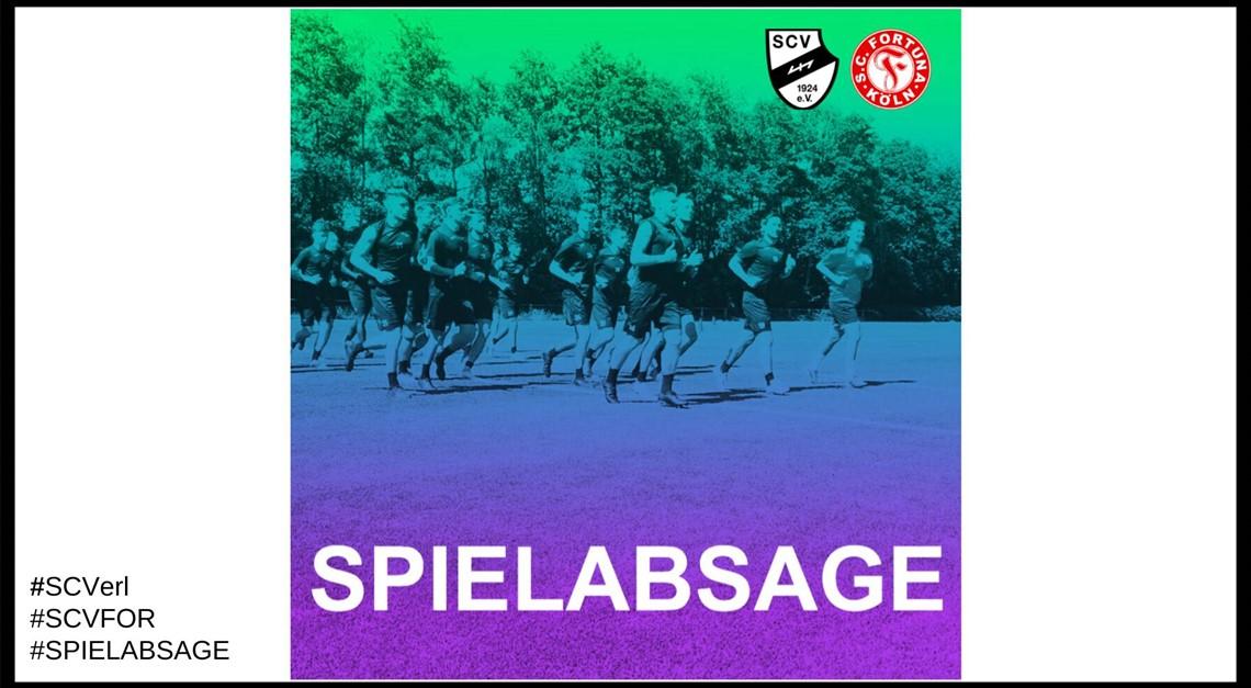 Spielabsage gegen Fortuna Köln