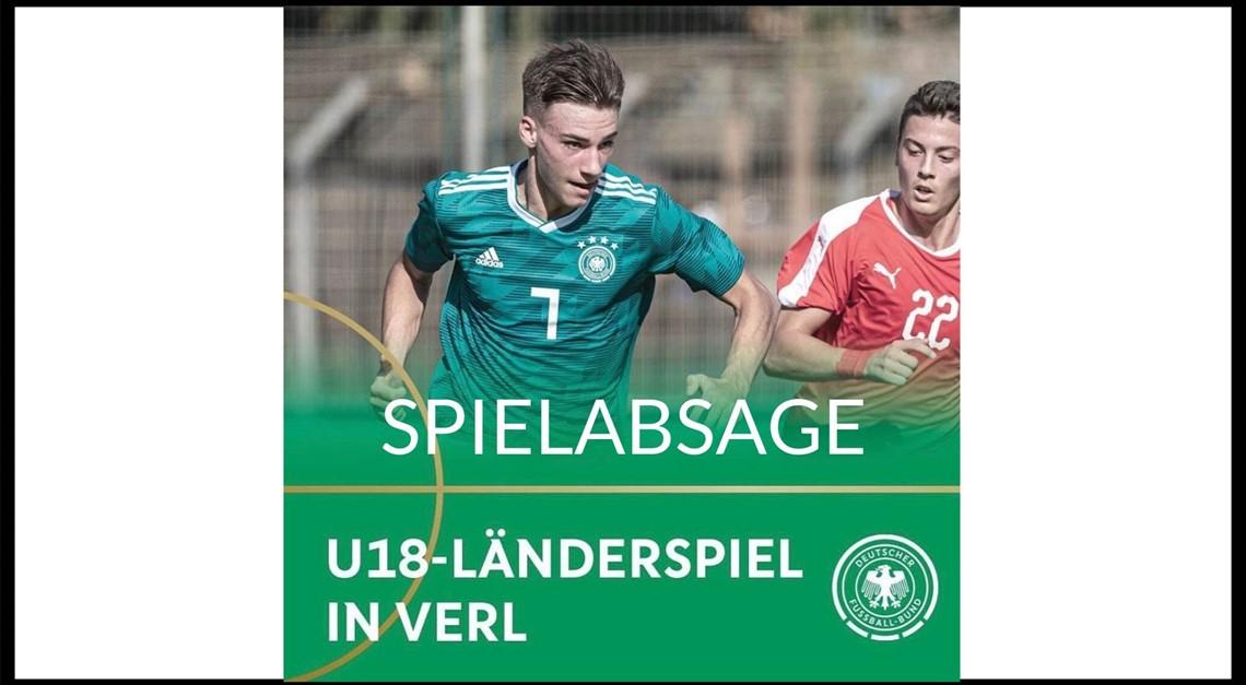Absage des U18 Länderspiels in Verl