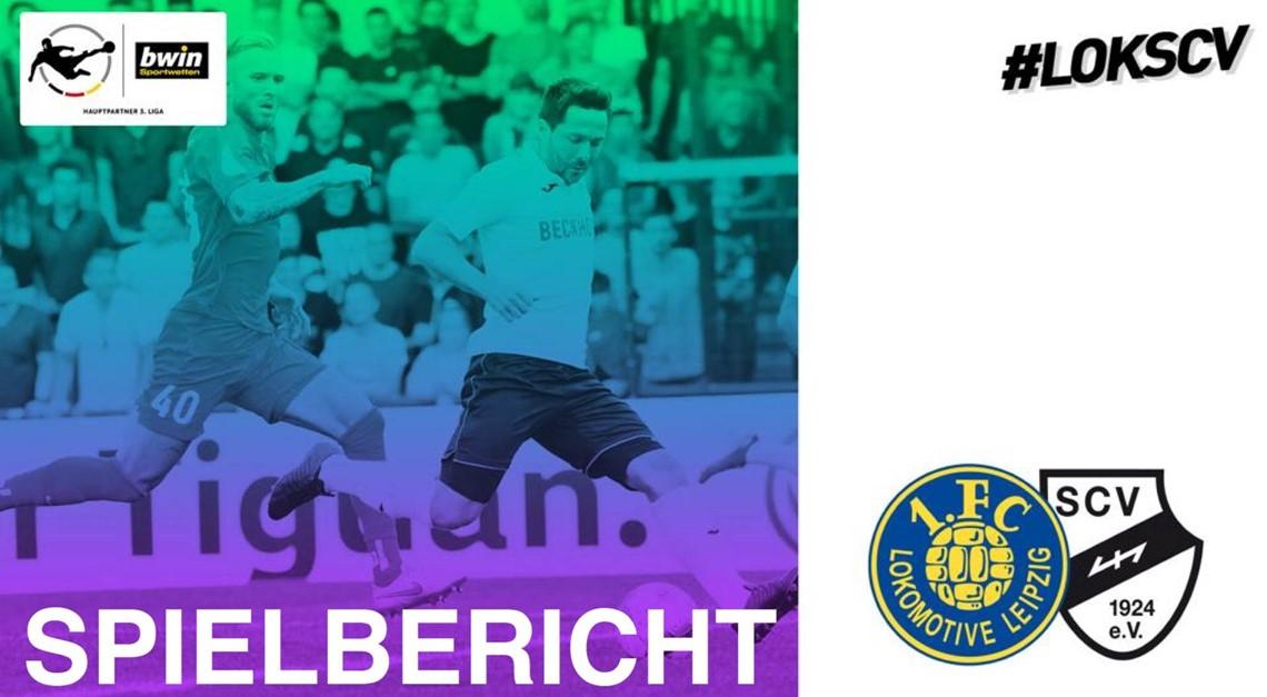 SC Verl mit 2:2 beim 1.FC Lokomotive Leipzig