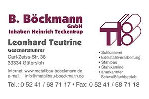 Sponsor - Metallbau B. Böckmann