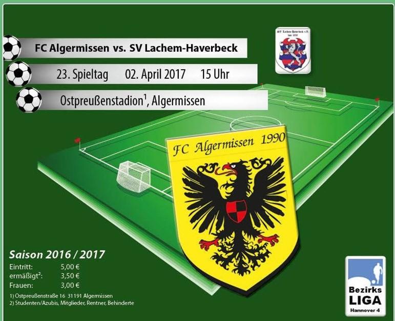 Heimspiel gegen Lachem / Haverbeck