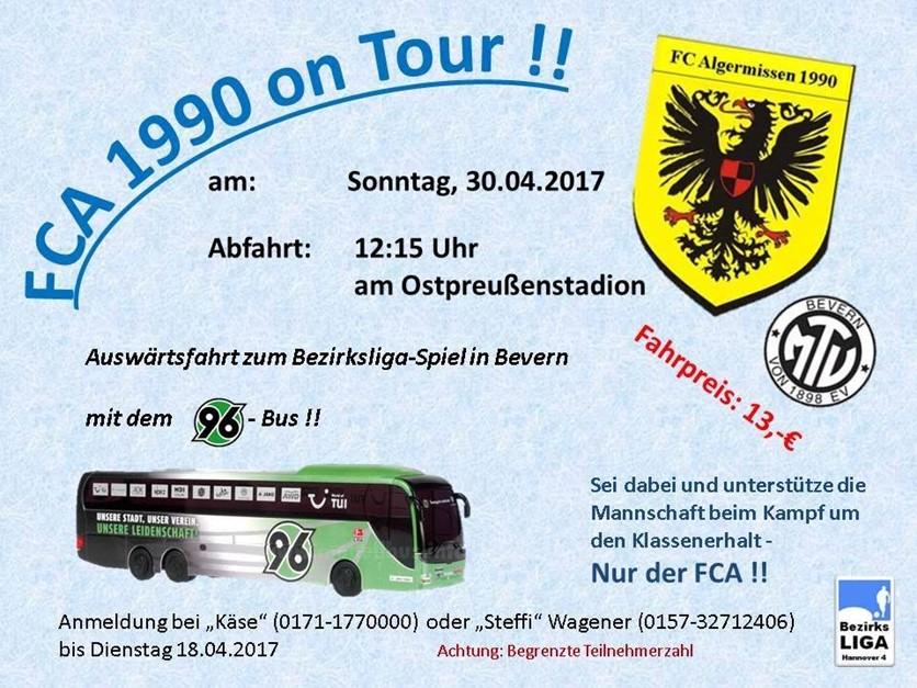 Busfahrt nach Bevern!