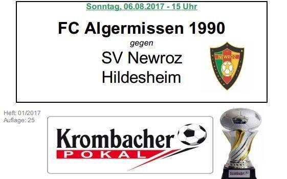 SV Newroz gastiert in der 2.Runde in Algermissen!