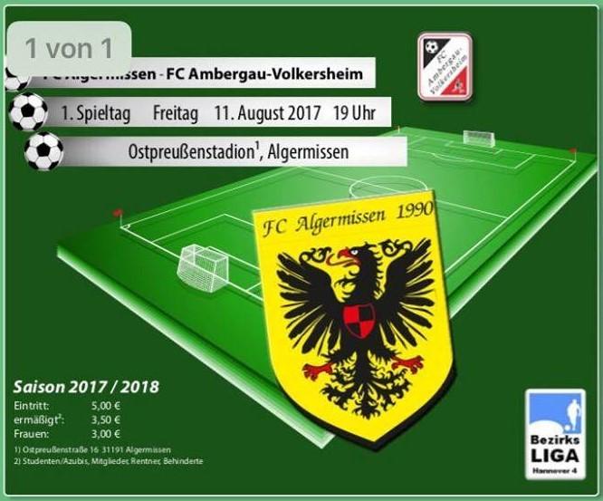 1.Spieltag am Freitag gegen Ambergau!