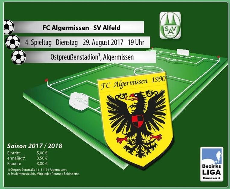 Dienstagabend gegen den SV Alfeld!