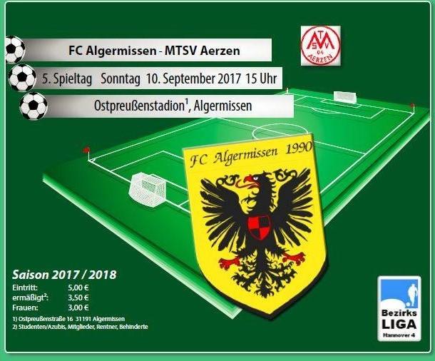Drittes Heimspiel in Folge gegen Aerzen!