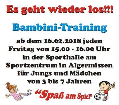 Bambini Training beim JFC Nord 04