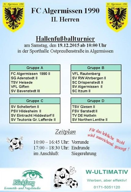 Hallenturnier 2.Herren FC Algermissen 1990
