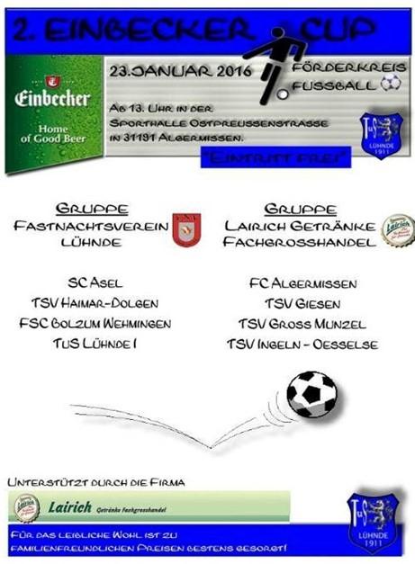 FC Algermissen startet beim Einbecker-Cup