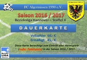 Dauerkarte für die Bezirksliga-Heimspiele