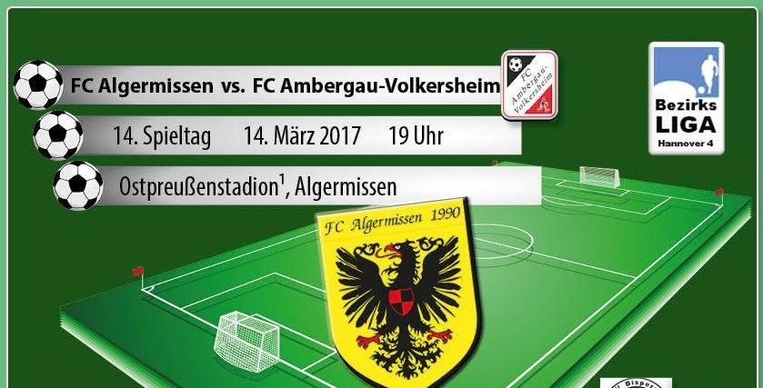 Nachholspiel am Dienstag gegen Ambergau!