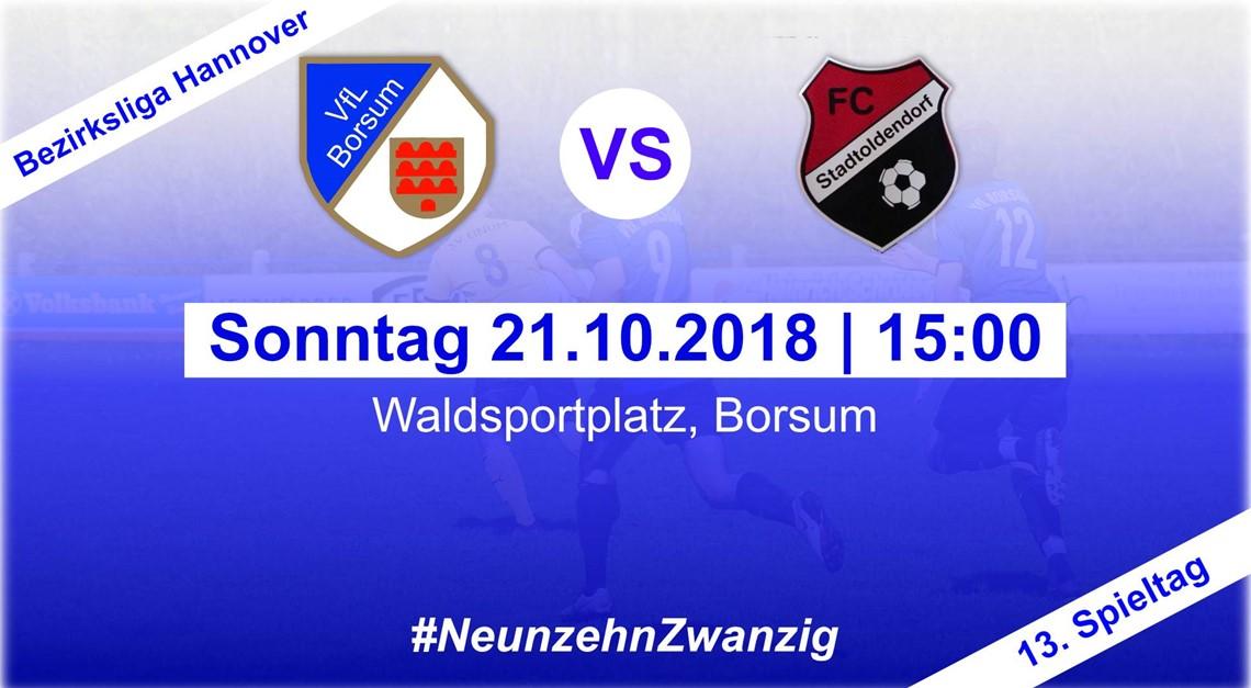 Heimspiel gegen den FC Stadtoldendorf