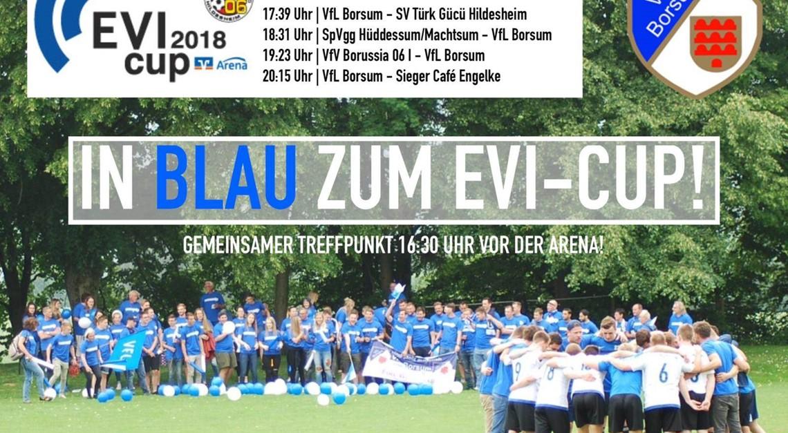 Gemeinsam in Blau zum EVI-Cup!