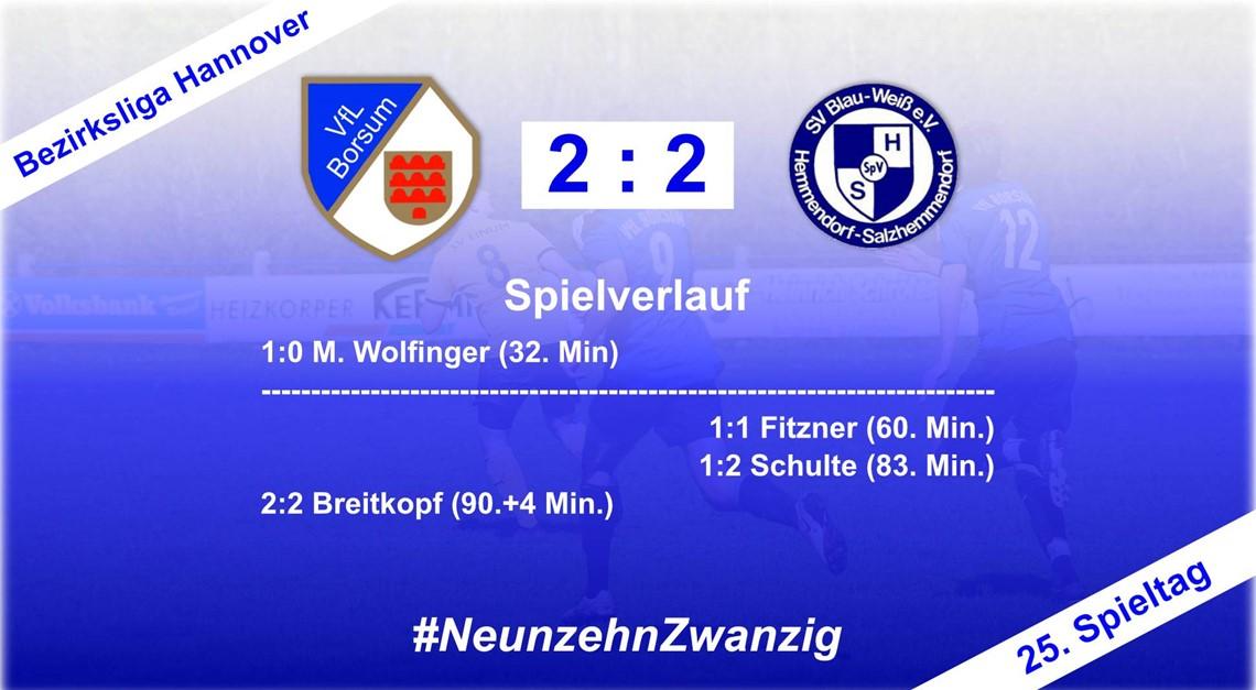 Nur 2:2 gegen Salzhemmendorf