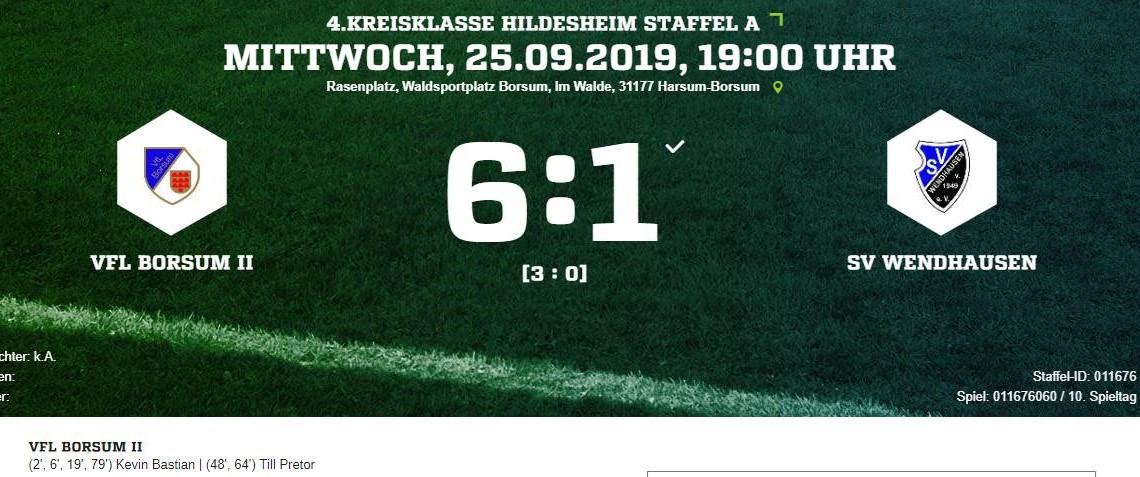 Klarer Erfolg der 2ten Herren gegen SV Wendhausen