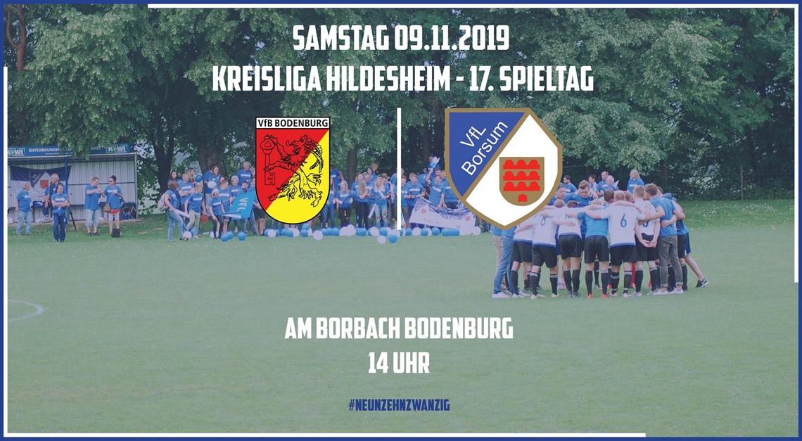 Auswärtsspiel gegen den VfB Bodenburg
