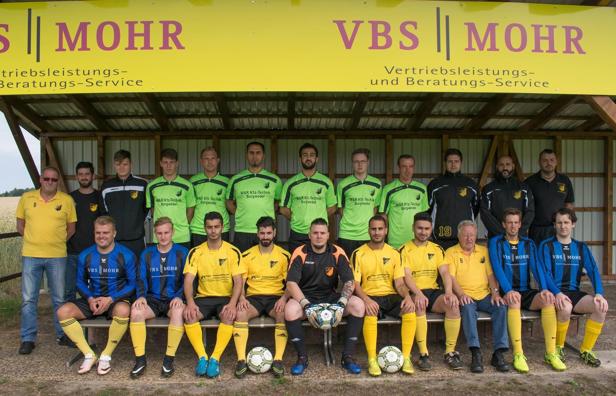 Mannschaftsfoto TSV Kleinburgwedel