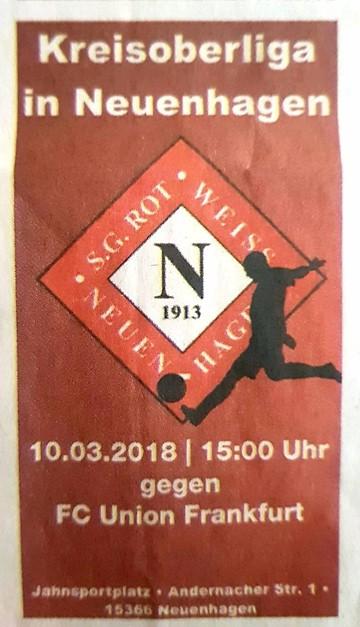 Heimspiel gegen FC Union Frankfurt