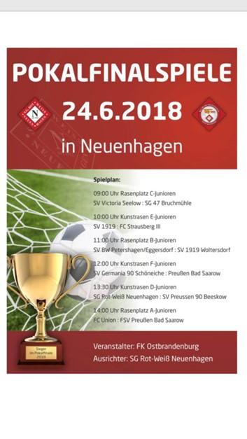 Pokalfinalspiele am 24.06.2018 in Neuenhagen