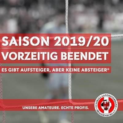 Entscheidung über die Saison 2019/2020 gefallen