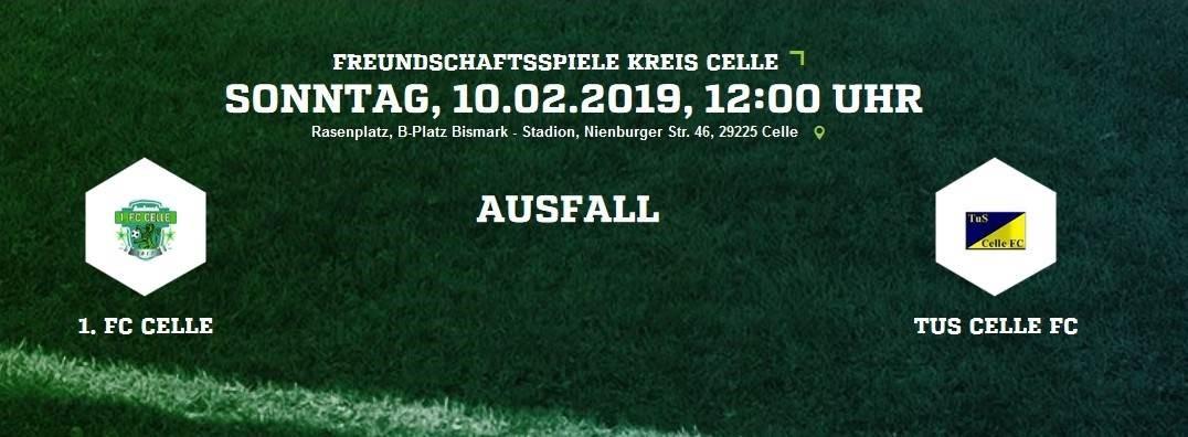 Testspiel beim 1. FC Celle fällt aus