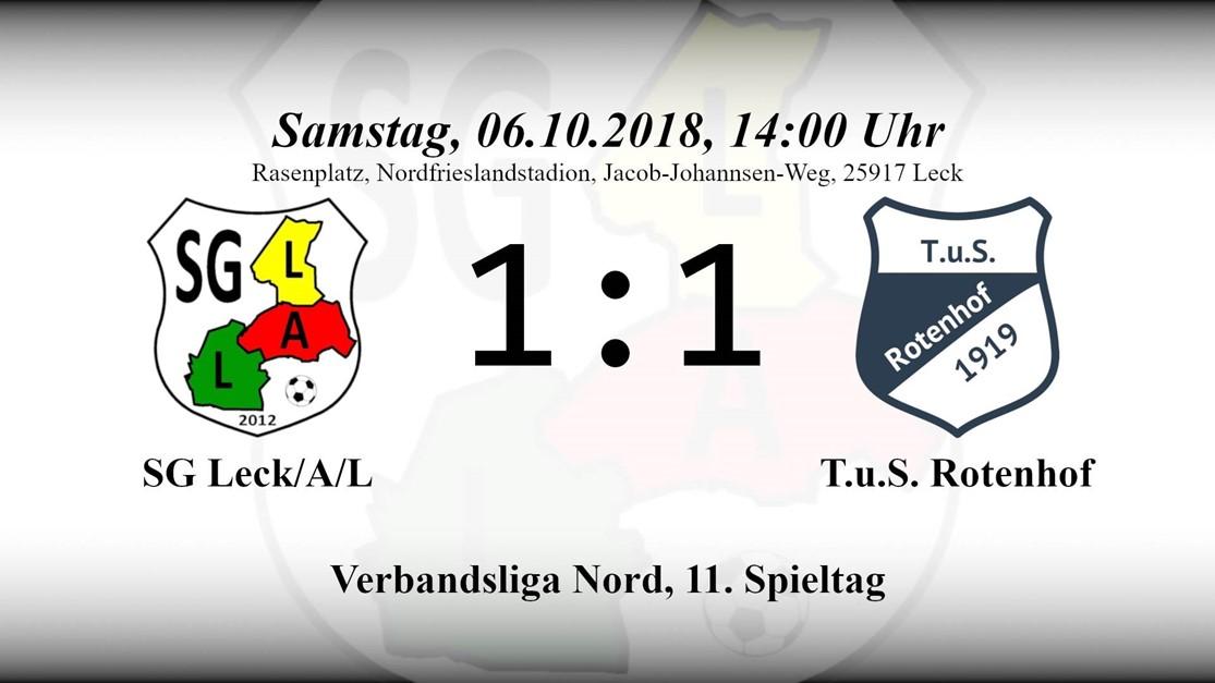 """""""Gerechtes Unentschieden"""" – 1:1 gegen TuS Rotenhof"""