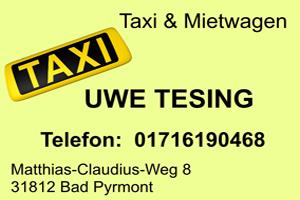 Sponsor - Taxiunternehmen Tesing