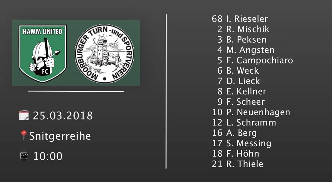 Moorburger TSV II: Punkte müssen her