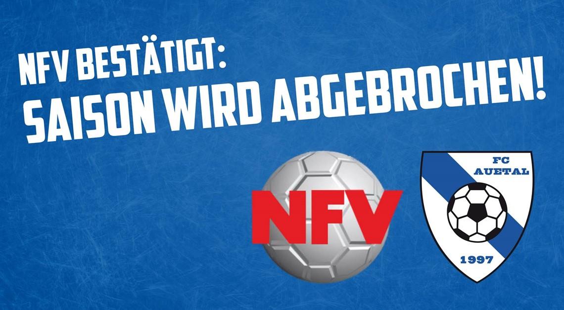 NFV bestätigt: Saison wird abgebrochen