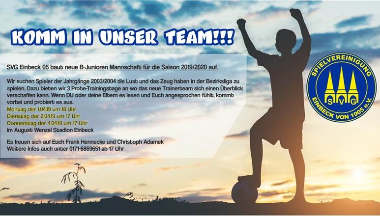 SVG Einbeck 05 sucht junge Talente
