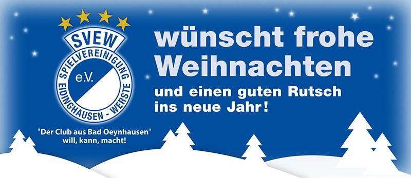 Weihnachtsgruß vom Vorstand der SVEW
