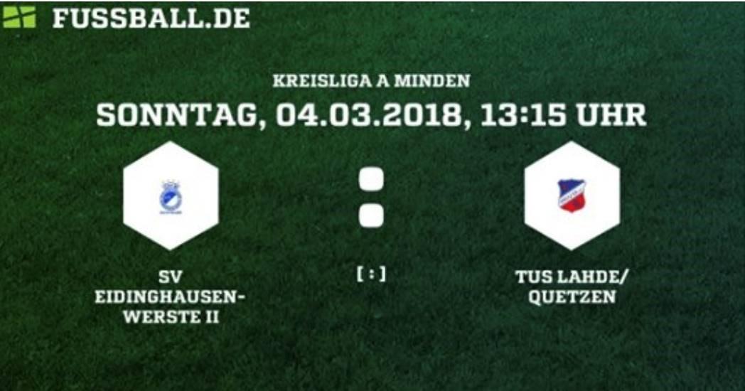 SVEW Bad Oeynhausen II gegen TuS Lahde Quetzen
