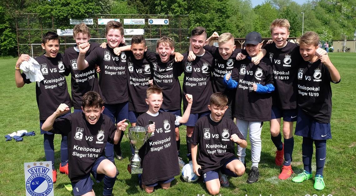 D1 der SVEW Bad Oeynhausen ist Kreispokalsie 2019!