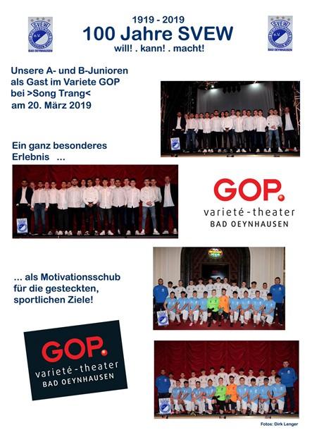 A- und B-Junioren im GOP