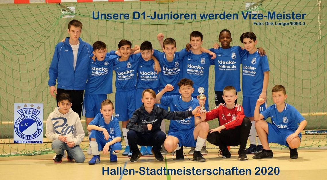 Unsere D1-Junioren werden Vize-Hallenmeister 2020