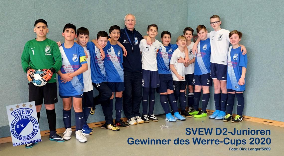 Unsere D2 gewinnt Werre-Cup 2020