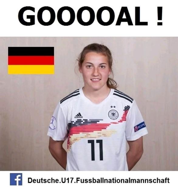 Carlotta Wamser schießt U17 ins EM Halbfinale