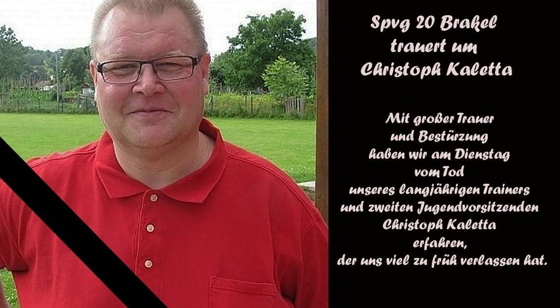 Spvg trauert um Christoph Kaletta