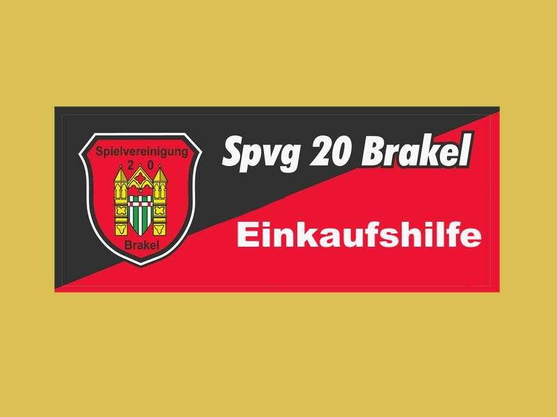 SpVg20 Brakel bietet Einkaufshilfe Service an