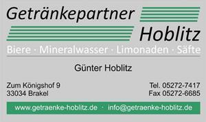 Sponsor - Getränke Hoblitz