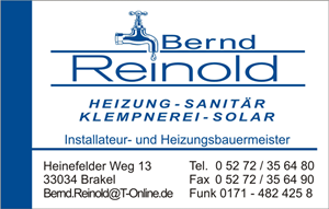 Sponsor - Reinold Heizung - Sanitär