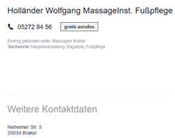 Sponsor - Holländer - Fußpflege