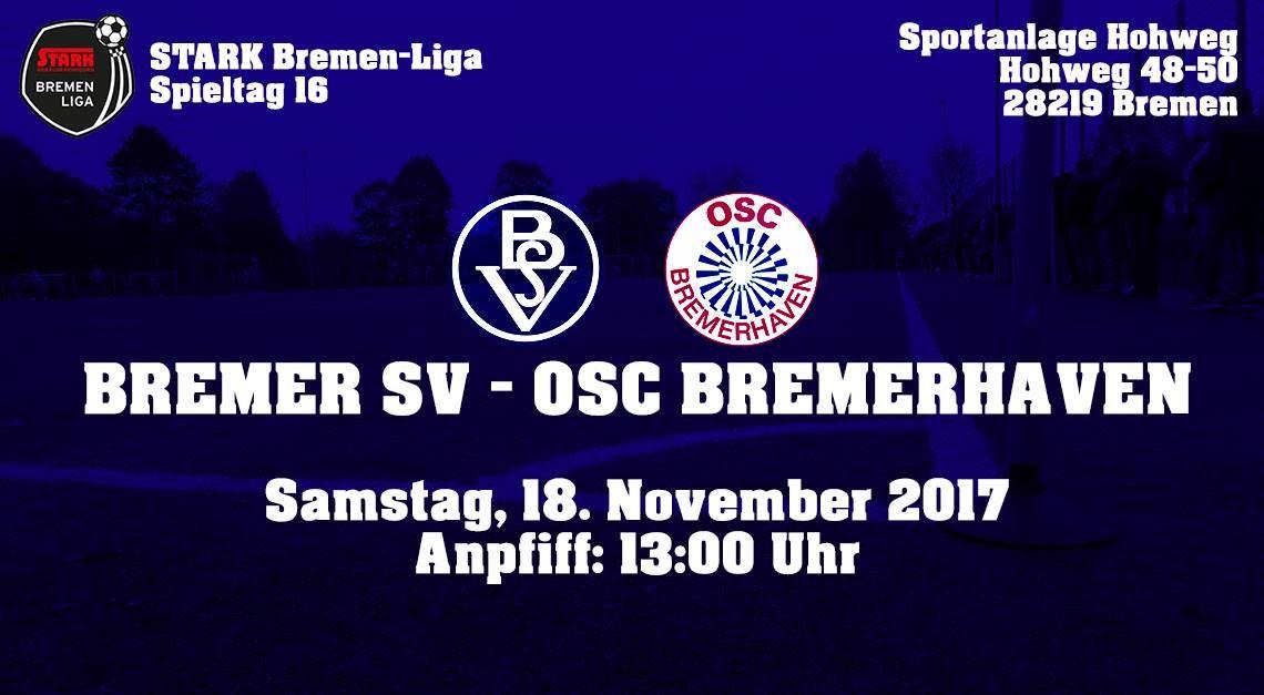 Rückrunden-Auftakt gegen OSC Bremerhaven