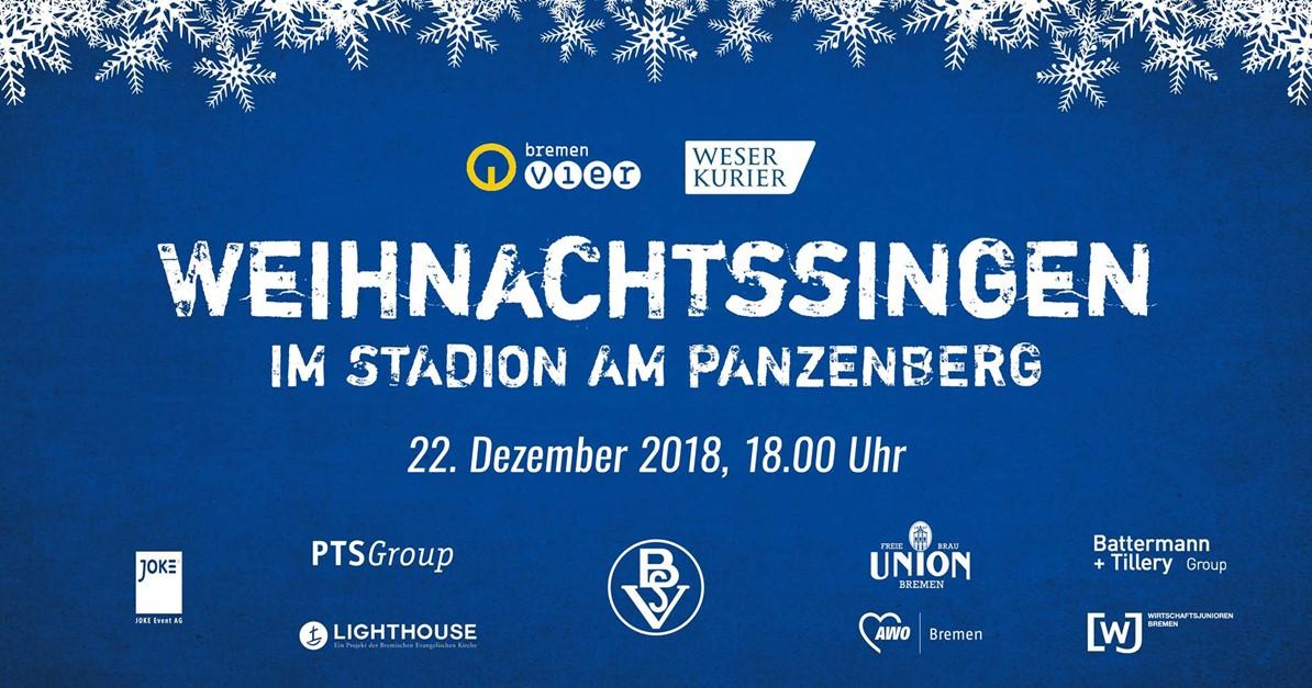 Weihnachtssingen im Stadion am Panzenberg