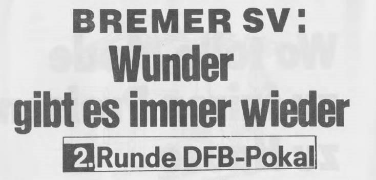 Pokalsensation 1986