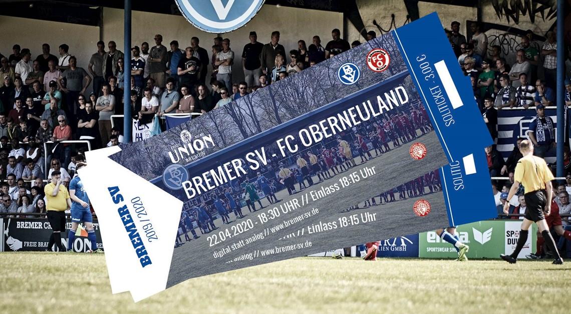 Bremer SV – FC Oberneuland findet statt